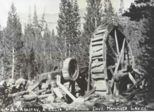 Old Mammoth water wheel
